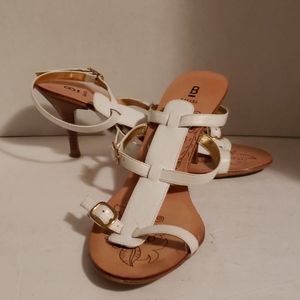 Bakers white leather sandals size 6.5